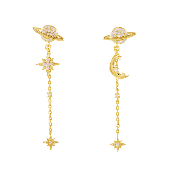 Wanderlust + Co Daydreamer Gold Earrings