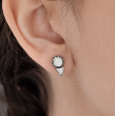 Dial Post Stud Earrings