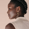 Lover's Tempo Duster Tassel Earrings with Gold Hoops
