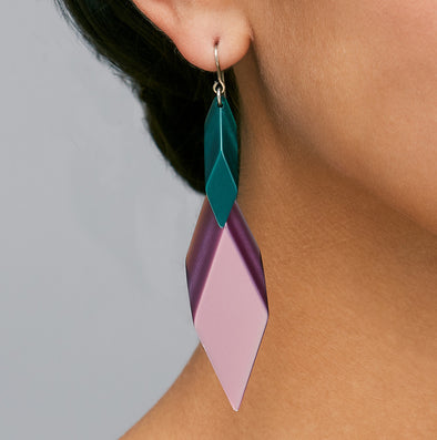Silvia Rossi Acrylic Statement Earrings