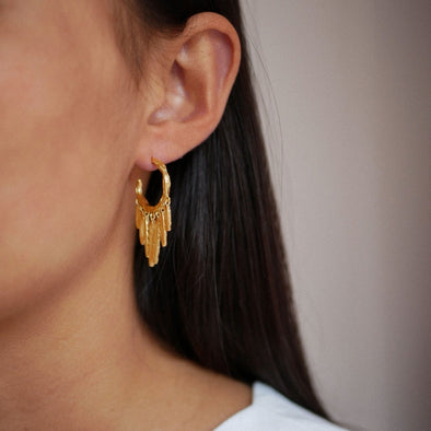 Enamel Copenhagen Ada Gold Hoop Earrings