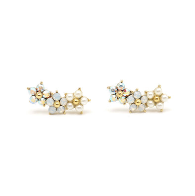 Lover's Tempo Floral Ear Climbers