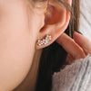 Floral Ear Climber Apache Rose London Jewellery