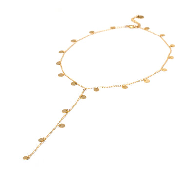 Fools Gold Lariat Necklace
