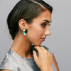 Silvia Rossi Emerald Green Geometric Earring