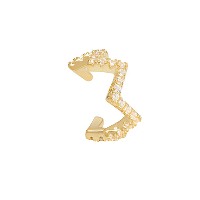 Joubi London Heartbeat Crystal Ear Cuff