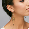 Inbar Shahak Gold Crystal Leaf Earrings