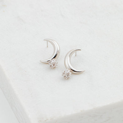 Lover's Tempo Lunar Crescent Earrings