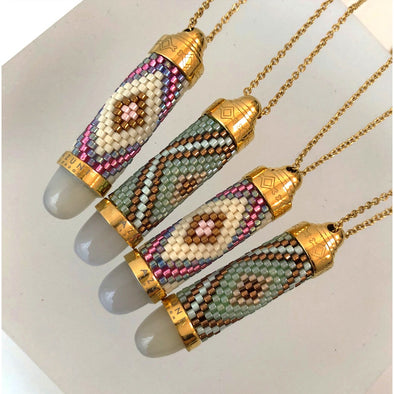 Azuni Beaded Bullet Necklaces