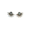 Nico Fan Crystal Earrings Black Diamond