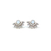 Nico Fan Crystal Earrings White Opal