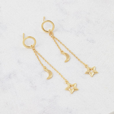 Lovers Tempo Night Sky Star Earrings