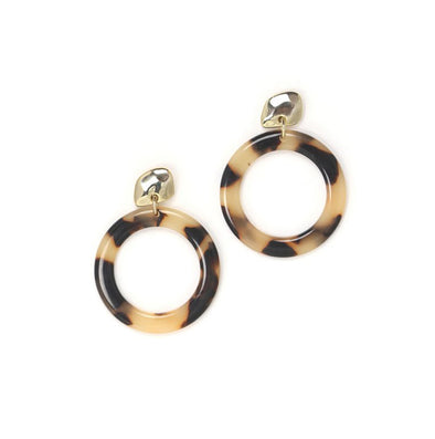 Odessa Tortoise Shell Earrings