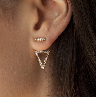 On Point Crystal Ear Jackets