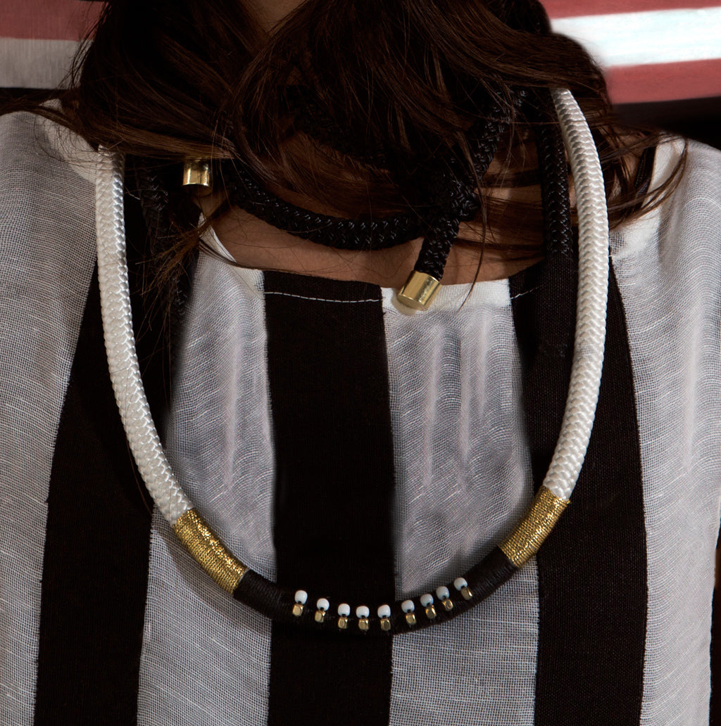 Pichulik // Beaded Column Statement Necklace