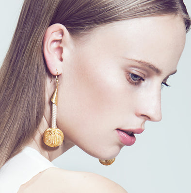 Pichulik Gold Globe Earrings
