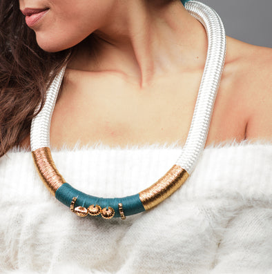 Pichulik Thealle Meander Statement Necklace