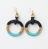 Pichulik Turquoise Hoop Earrings