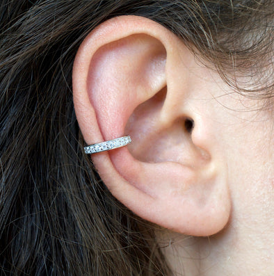 Joubi Crystal Rhodium Ear Cuff