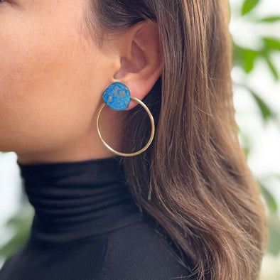 Sibilia Ocean Dot Gold Hoop Earrings