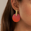 Sibilia Ombre Monocycle Coral Earrings
