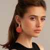 Sibilia // Ombre Monocycle Coral Earrings