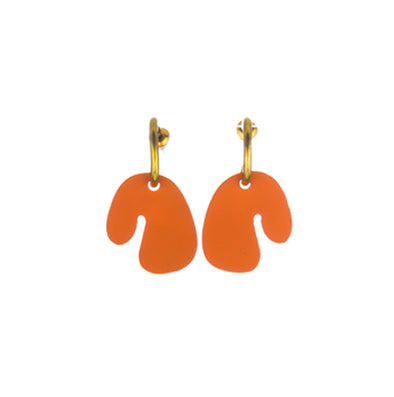 Small Coral Leaf Earrings By Sibilia