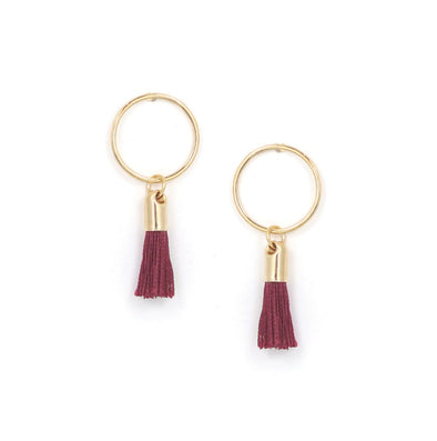 Crimson Solar Tassel Earrings