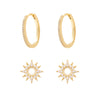 Wanderlust + Co Sunlit Gold Hoop Earrings