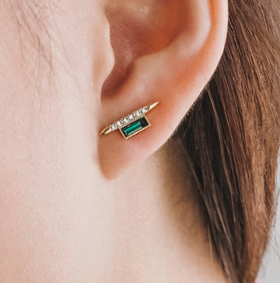 Vendetta Emerald Earrings