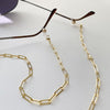 Wanderlust + Co Gold Harper Maske Chain