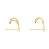 Wanderlust + Co In The Stars Gold Huggie Earrings