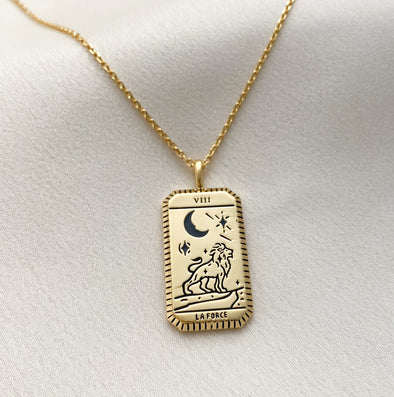 Wanderlust + Co La Force Gold Tarot Necklace