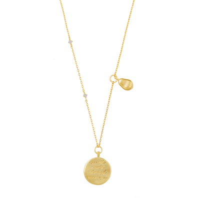 Wanderlust + Co See The World Gold Necklace