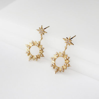 Wanderlust + Co Sunseeker Gold Earrings