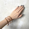 Wanderlust + Co Wanderlust Hinged Bangle