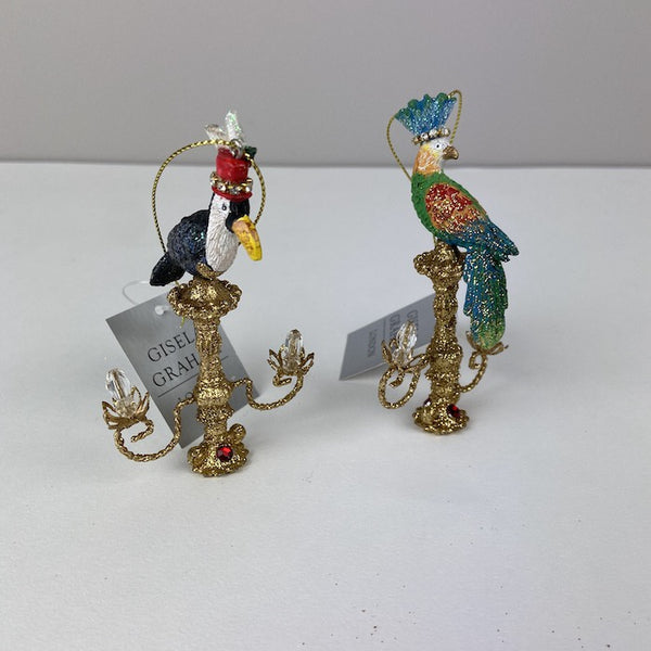 Parrot on Candlestick - Assorted