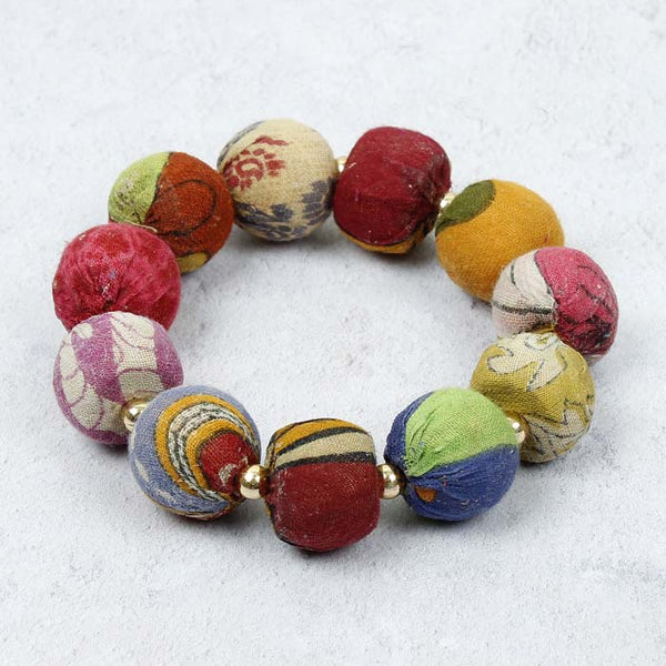 Kantha Bauble Bracelet, large