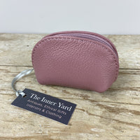 Leather Coin Purse - Dusty Pink