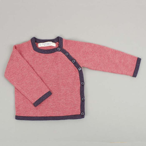Picasso Knitted Organic Cotton Wrap Jacket - Rose