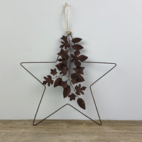 Star Wreath with Leaves & Stars