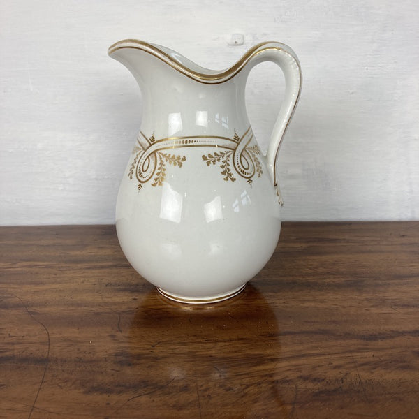 C19th White and Gilt Jug