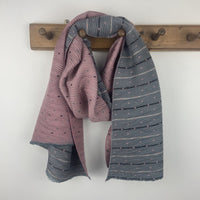 Pleated Tiny Dots Scarf - Pink