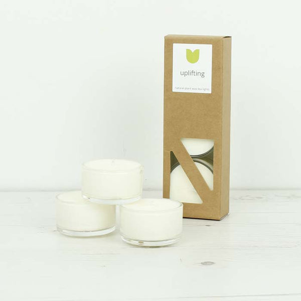 Set of 3 Boxed Tea Lights - Uplifting