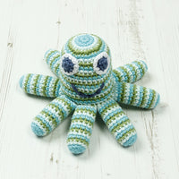 Crochet Octopus Rattle - Blue