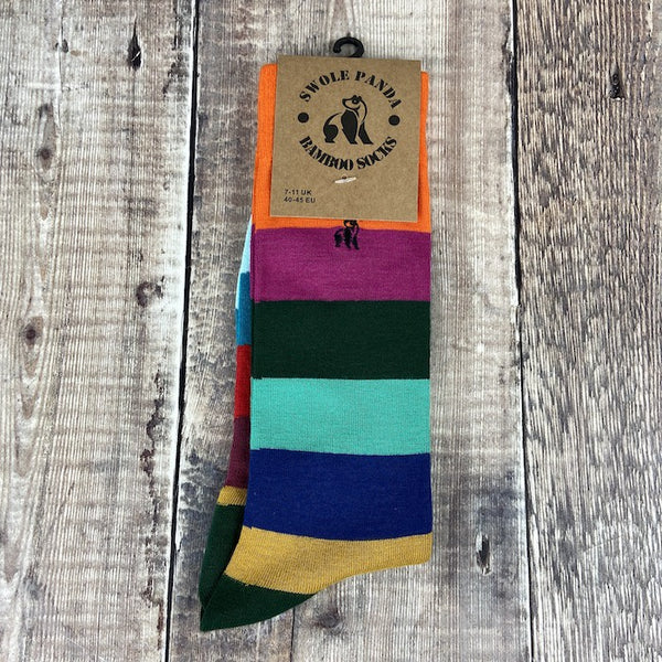Men's Socks - Block Striped