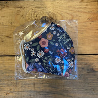 Fabric Face Mask - Navy Floral
