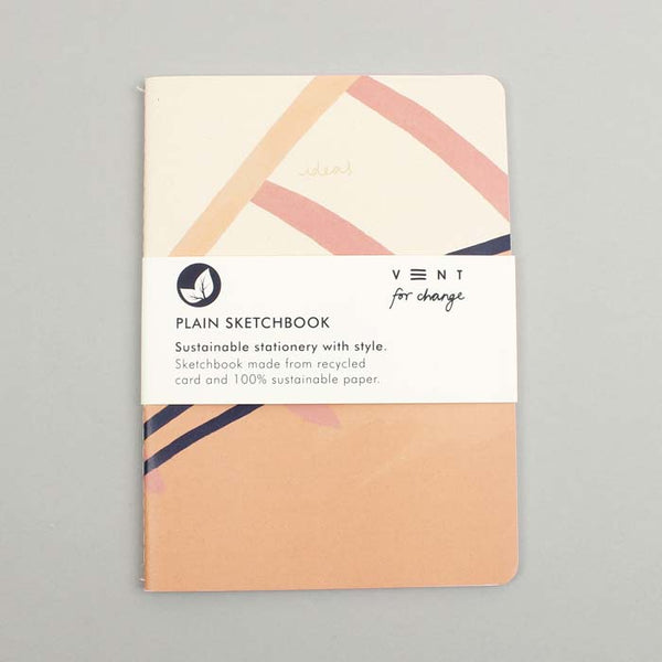 A5 Ideas Pink Soft Cover Sketchbook (Plain)