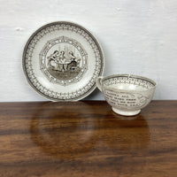 Early C19th Miniature Pearlware Cup and Saucer a/f