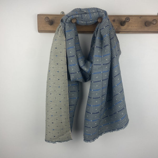 Pleated Tiny Dots Scarf - Beige
